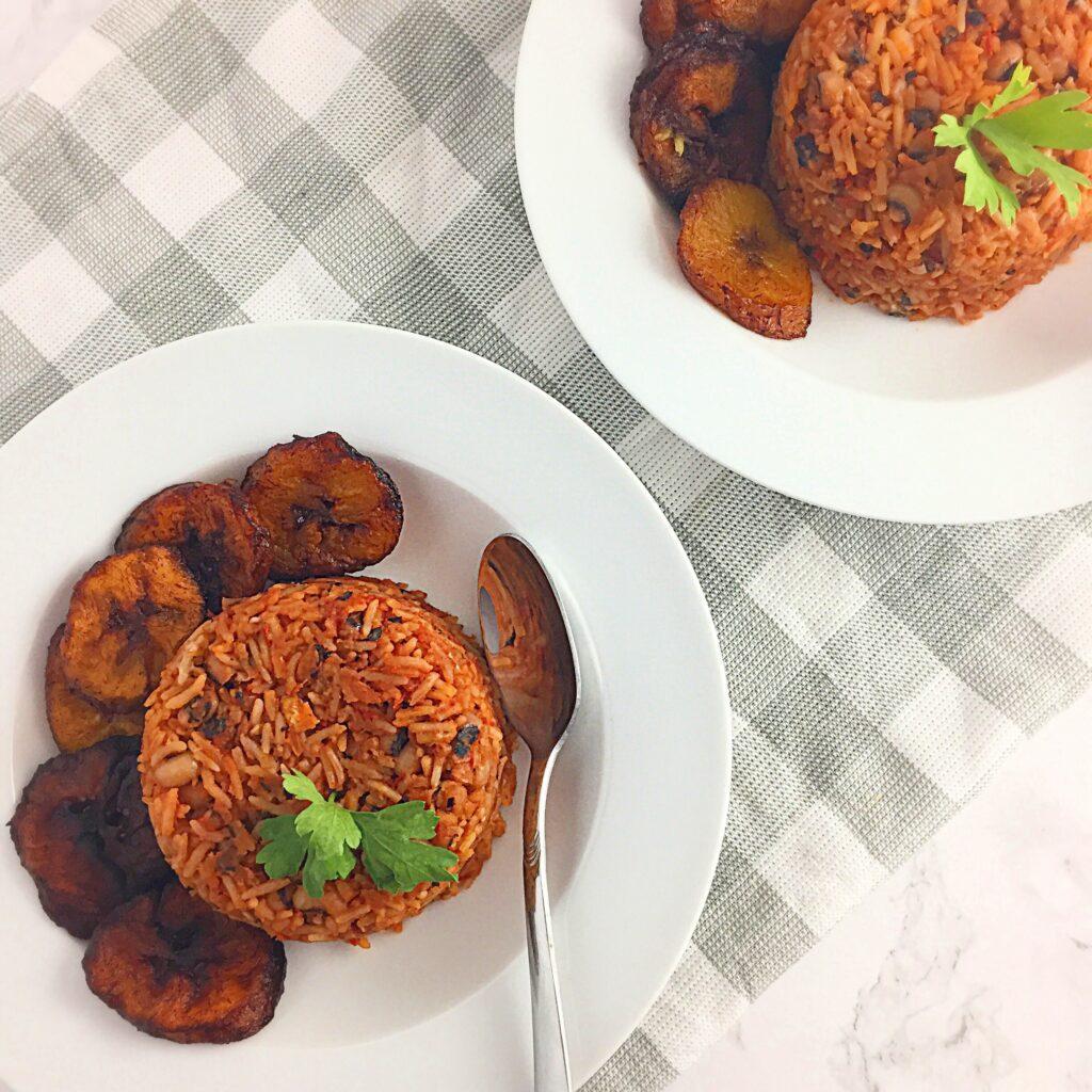 Jollof rice & beans recipe
