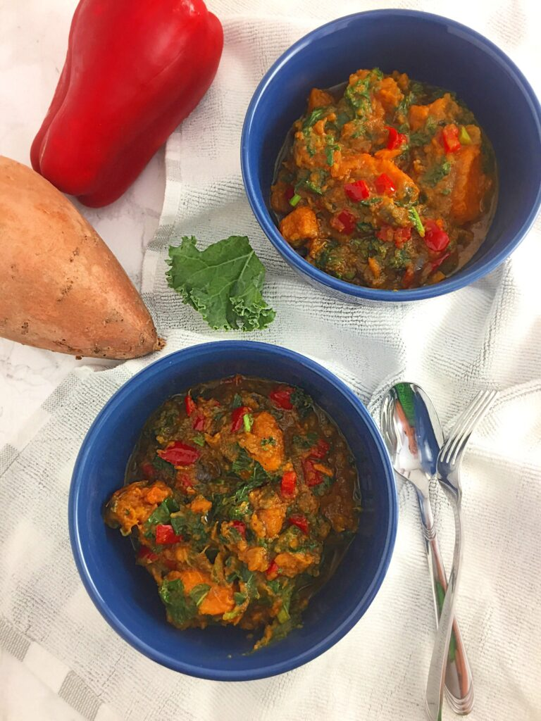 Delicious Kale Sweet Potato Porridge