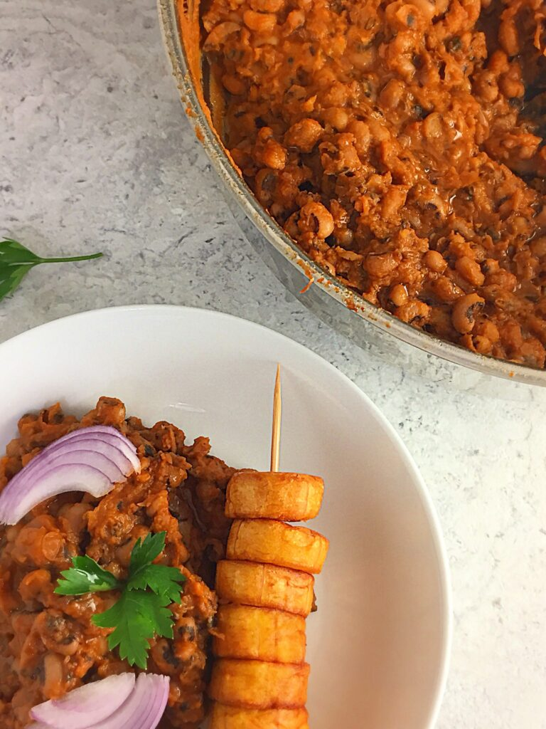 Nigerian Stewed beans porridge