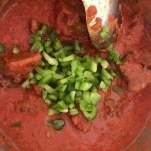 Nigerian stew making process