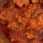 Nigerian roasted peppers oxtail stew