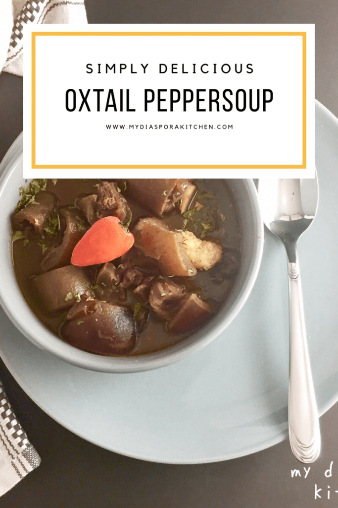 Nigerian Oxtail Peppersoup