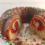 Christmas Marble Bundt Cake