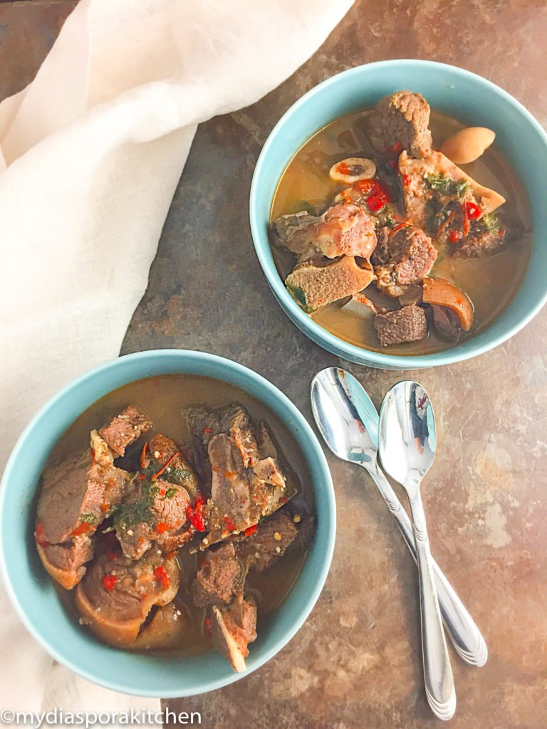mouth watering goatmeat peppersoup