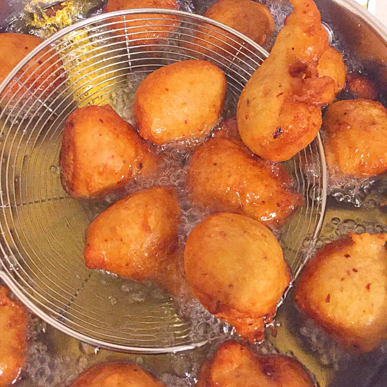 Spicy plantain balls