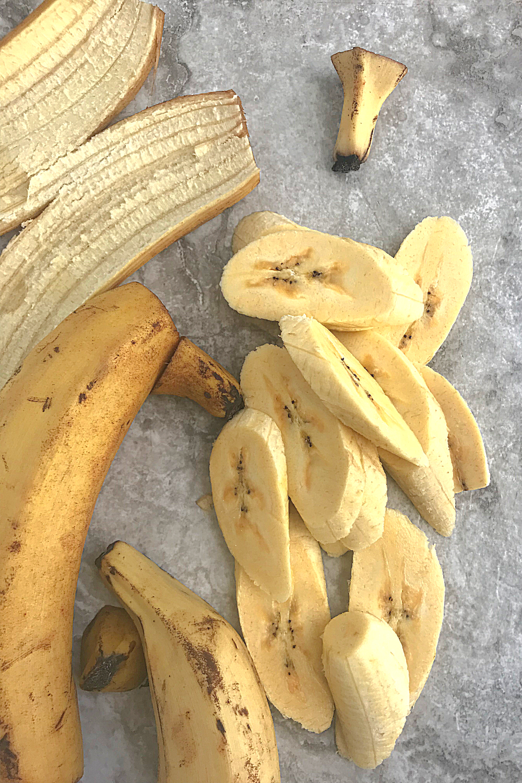 raw plantain slices