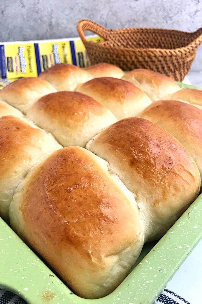 hawaiian sweet rolls in a baking pan