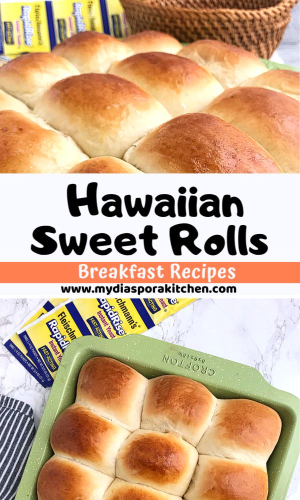hawaiian sweet rolls in a collage