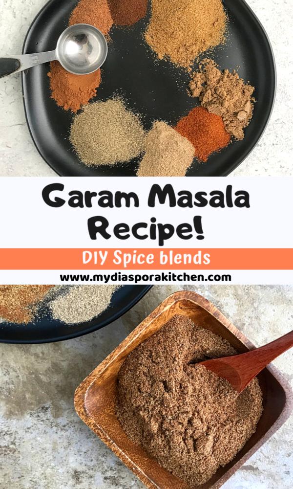 collage showing garam masala