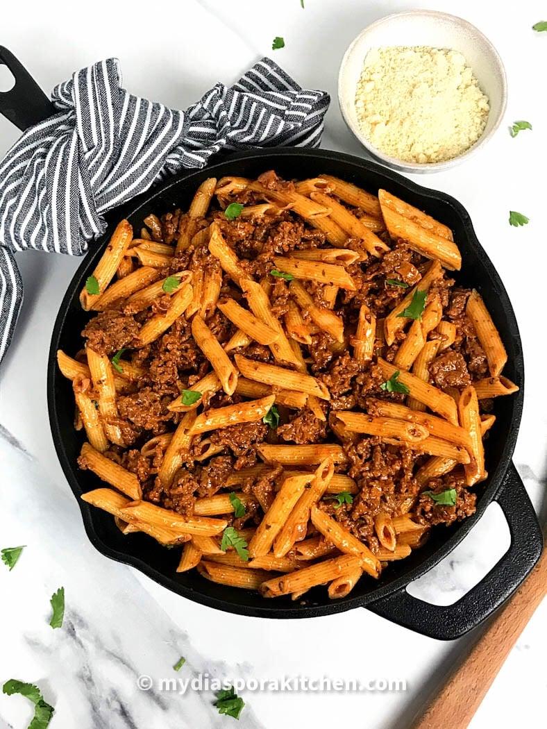 Creamy Ground Beef Pasta My Diaspora Kitchen